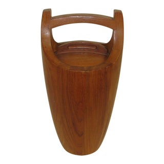 "Dansk Staved Teak ""Congo"" Ice Bucket by Jens Quistgaard For Sale"