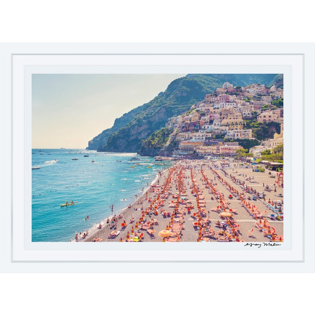 "Gray Malin Large Limited Edition ""Positano Beach"" (La Dolce Vita) Signed Framed Print - Image 2 of 3"