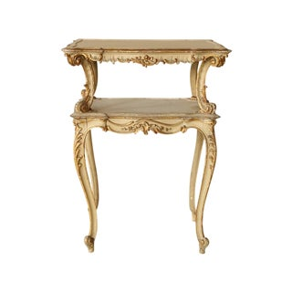 Rococo Style Italian Two Tiered Table