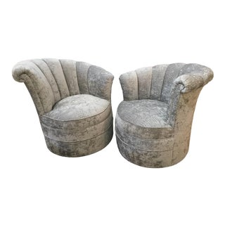 1970s Vintage Swivel Pair of Chairs- a Pair For Sale