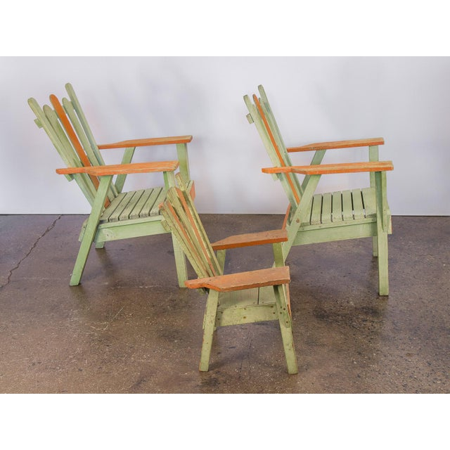 Family Set of Adirondack Chairs - Image 4 of 11