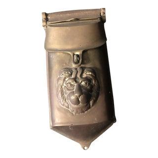 1940s Georgian Bronze Lion Mailbox For Sale