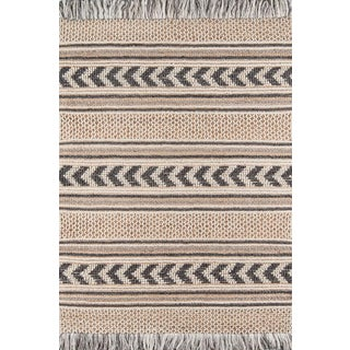 Esme Charcoal Hand Woven Area Rug 5' X 7' For Sale