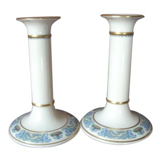 1980s Traditional Lenox Candlesticks - a Pair For Sale