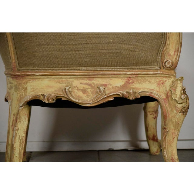 Vintage French Louis XV Style Carved Bergeres - a Pair - Image 9 of 11