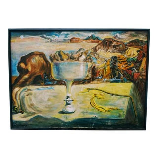 Surrealist Herman Goro Oil on Canvas Painting For Sale