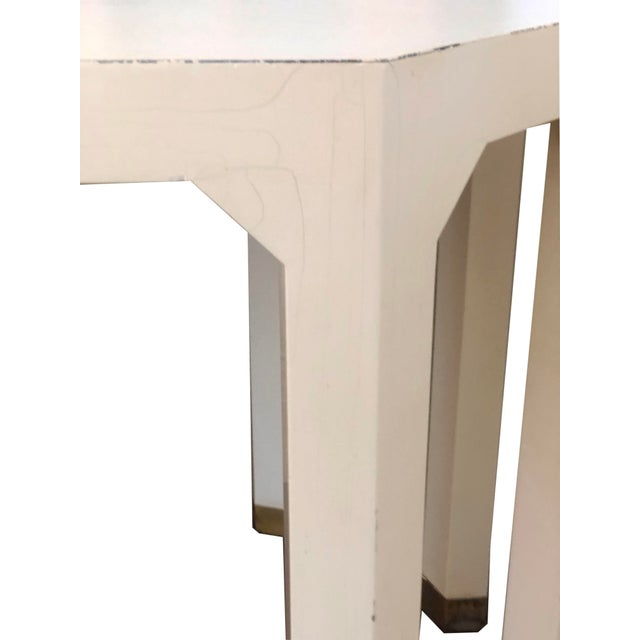 Mid-Century Cream Octagon Shaped Side Tables - a Pair For Sale - Image 9 of 10
