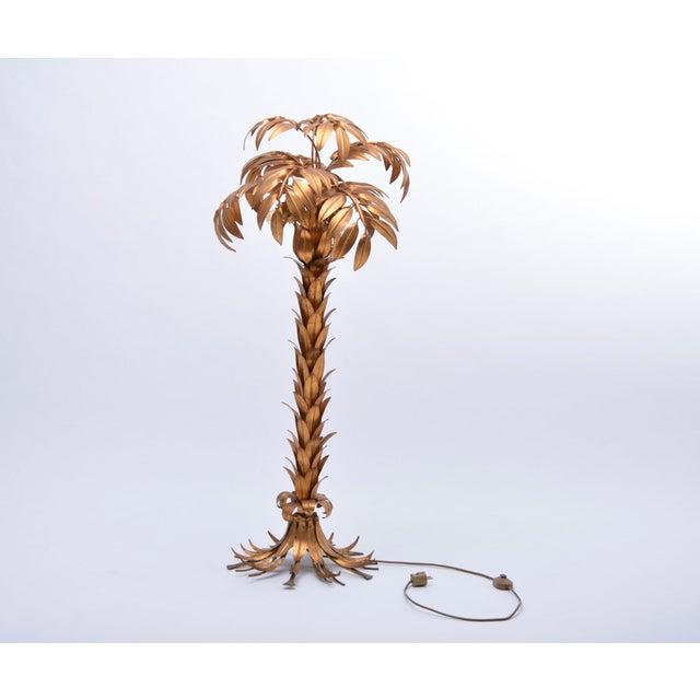 Huge Vintage Golden Palm Tree Floor Lamp by Hans Kögl, 1980s For Sale - Image 11 of 11