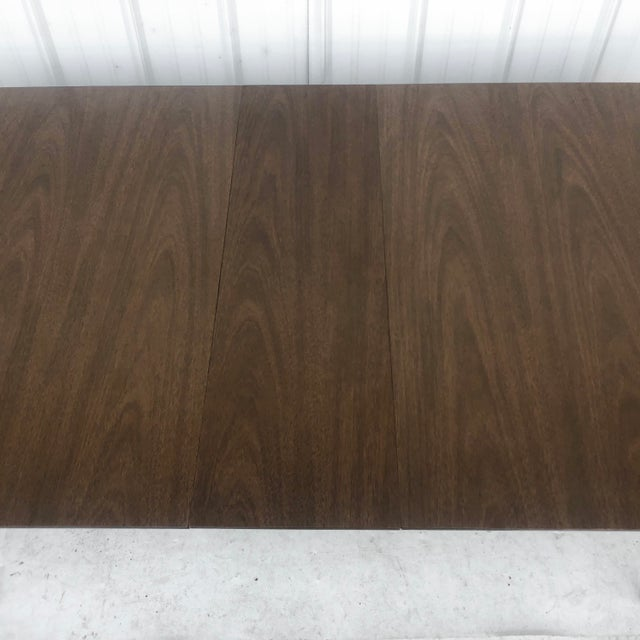 Mid-Century Dining Table With Leaf For Sale In New York - Image 6 of 13