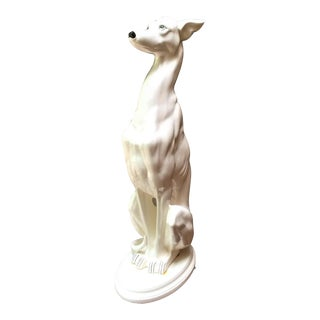 Vintage Life-Size Whippet Sculpture For Sale