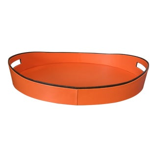 Hermes Style Orange Black Tray