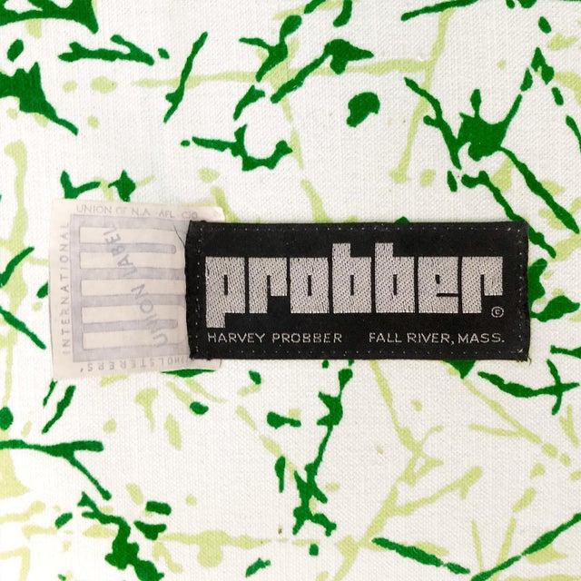 Harvey Probber 1970s Harvey Probber Sofa in Green Splatter Upholstery For Sale - Image 4 of 5