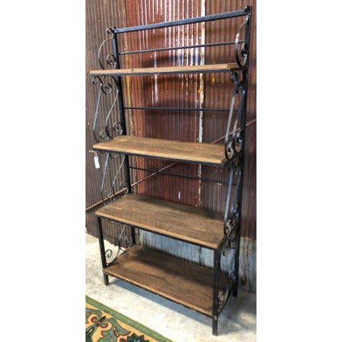 This is a unique reclaimed industrial vintage plant stand shelving unit. The shelves on this unit was built out of 100...
