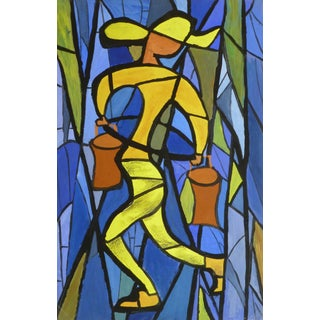 Vintage French Abstract - Water Carrier For Sale