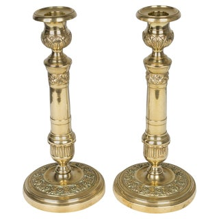 Pair of 19th Century French Candlesticks For Sale