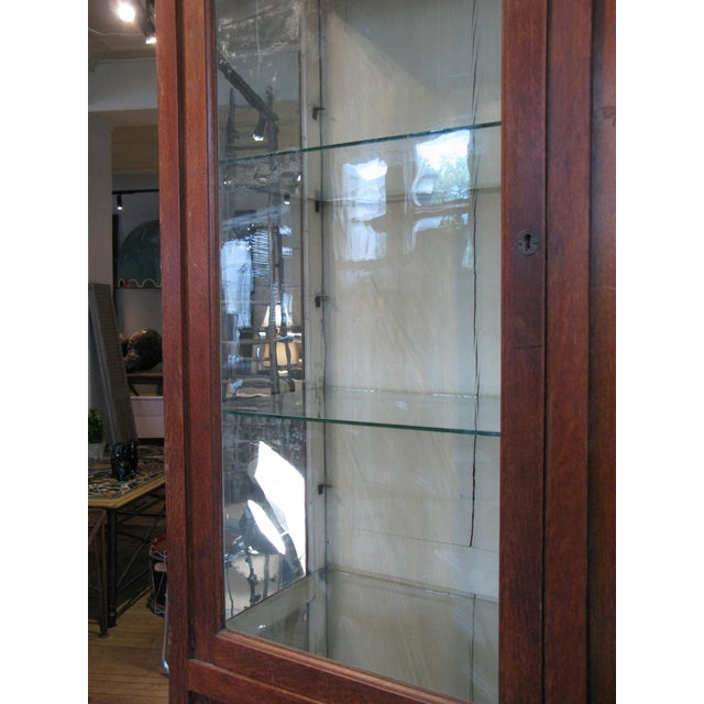 Large Antique Late 19th C. Oak and Glass Display Cabinet For Sale In New York - Image 6 of 8