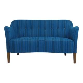 Ludvig Pontoppidan Danish Settee in New Wool Fabric For Sale