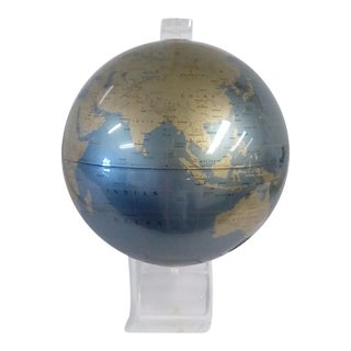 Vintage Replogle Mid-Century Modern Lucite World Globe For Sale
