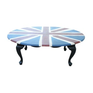 Union Jack Hand Painted Coffee Table For Sale