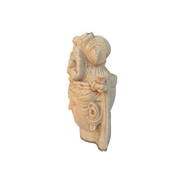 Chinese Ivory Terracotta Buddha Head - Image 2 of 7