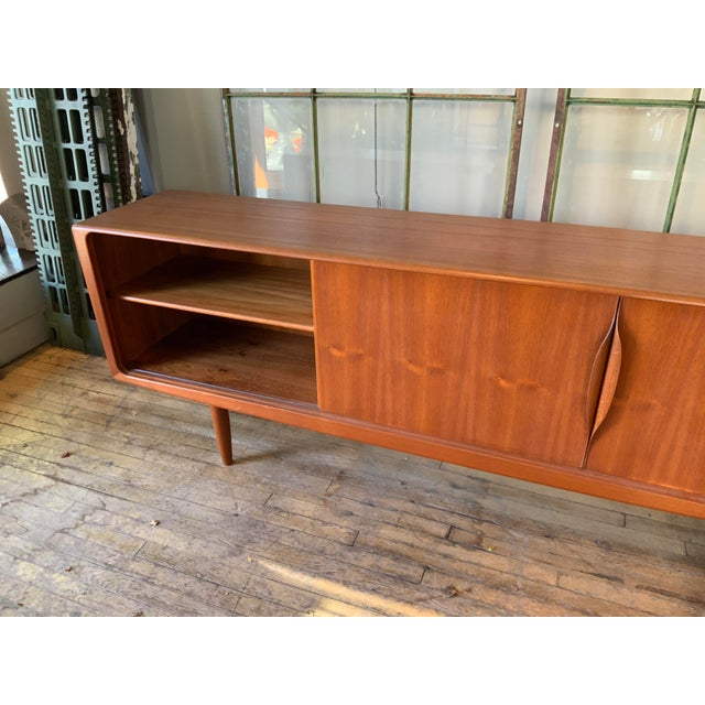 Wood Danish 1950s Teak Credenza Cabinet For Sale - Image 7 of 11