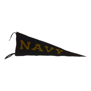 Vintage United States Naval Academy Pennant Circa 1940 For Sale