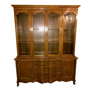 Antique French Provencal China Cabinet