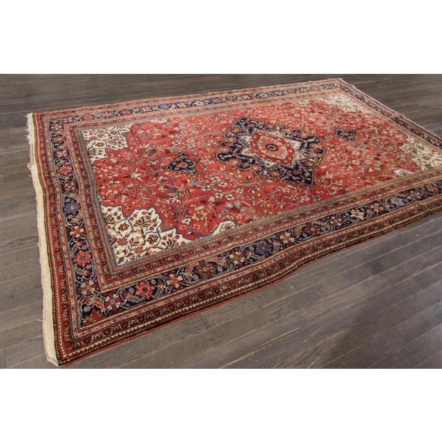 "Traditional Apadana Antique Farahan Sorouk Rug - 6'10"" x 10'7"" For Sale - Image 3 of 6"