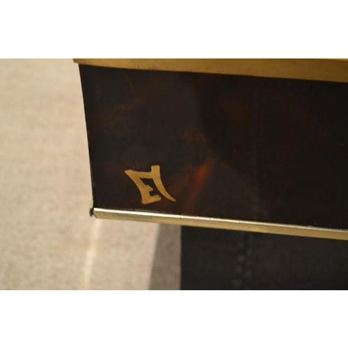Mid-Century Tortoise Lacquered Table, France For Sale - Image 4 of 8