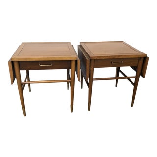 Mid Century Drop-Leaf Side Tables by Lane, Pair For Sale