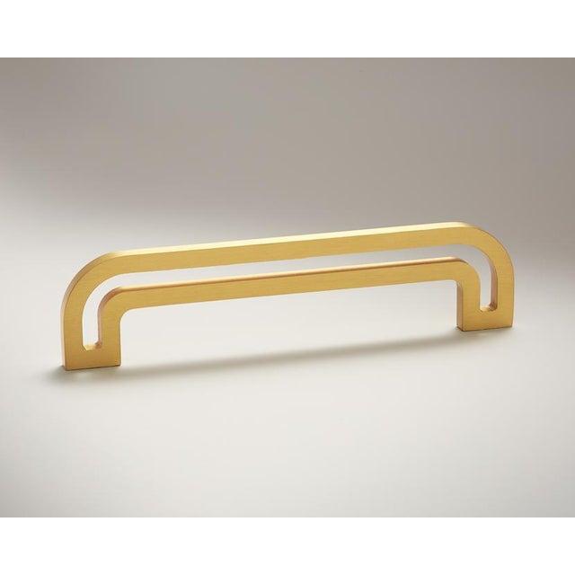Art Deco Nest Studio Collection Deco-5.5 Satin Brass Handle For Sale - Image 3 of 3