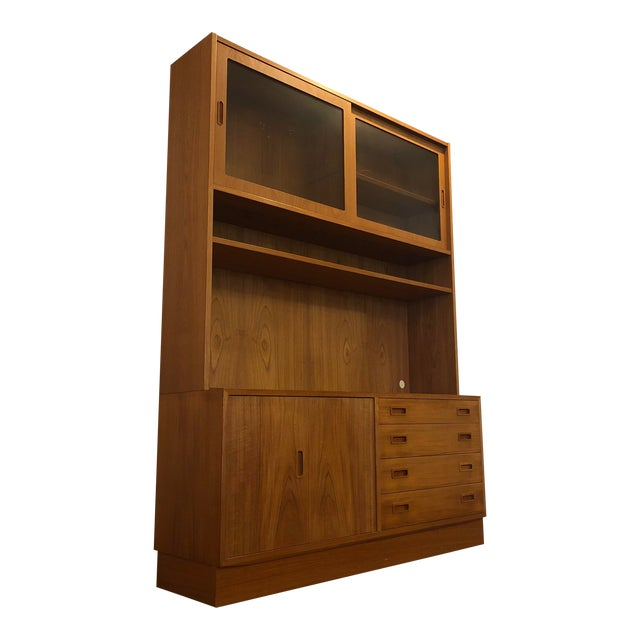 Poul Hundevad Teak Sideboard With Display Hutch For Sale