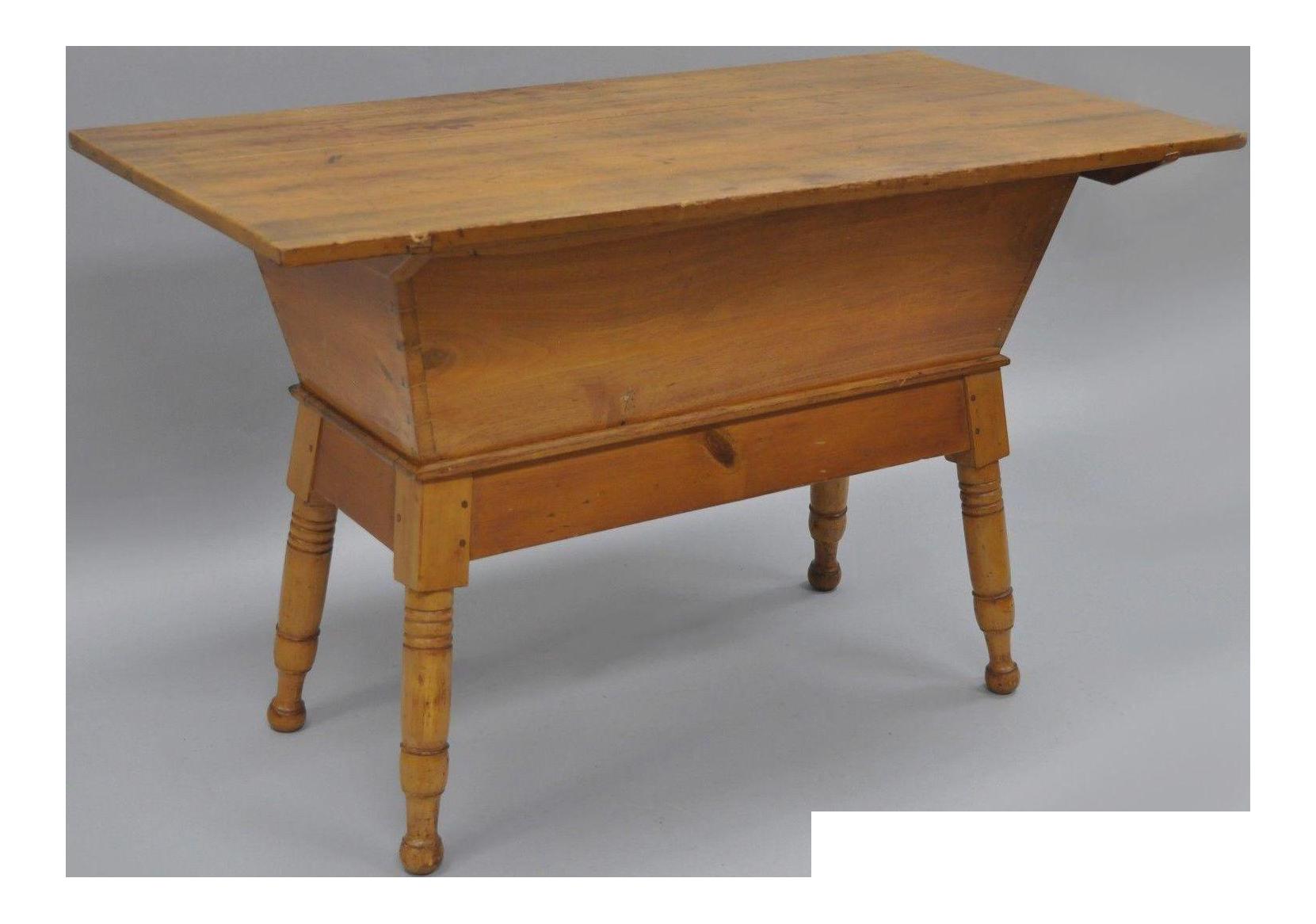 Antique Primitive Country Pine Wooden Dovetail Dough Box
