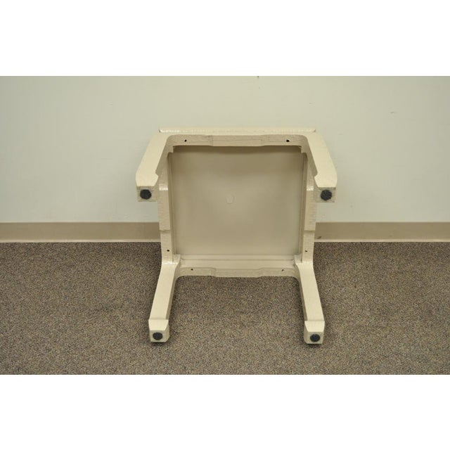 Vintage James Mont for Baker Asian Lacquered Grasscloth Occasional Side Accent Table - Image 5 of 11