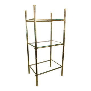 Faux Bamboo Brass Stand For Sale