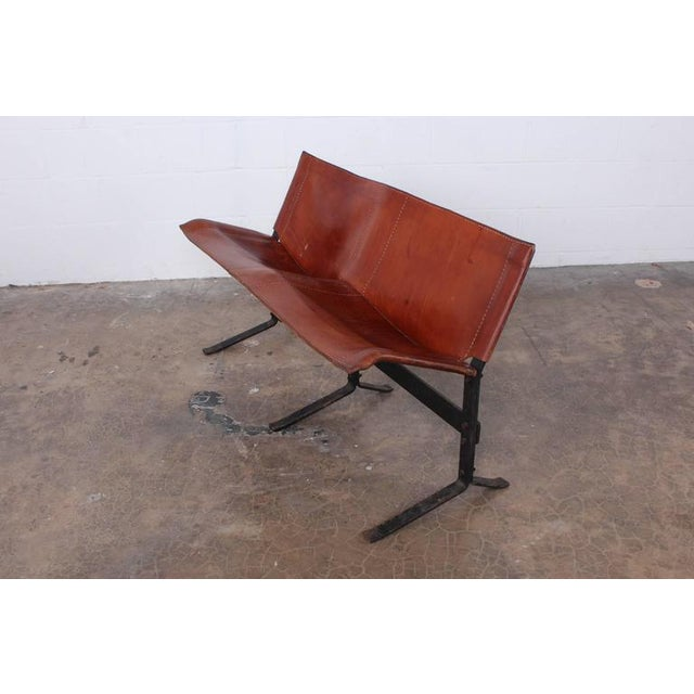 Max Gottschalk Leather Bench by Max Gottschalk For Sale - Image 4 of 10