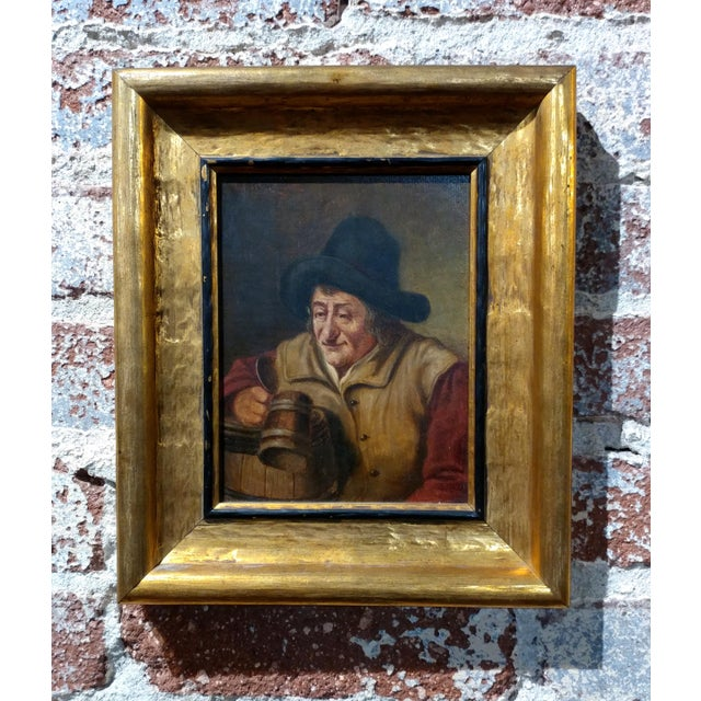 19th Century Dutch Stein Drinker Oil Painting - Image 2 of 8