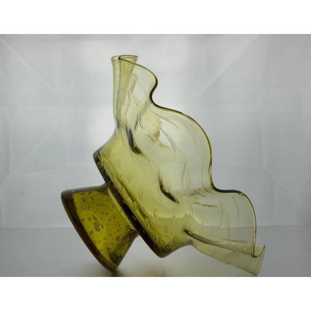 Ruffled Shape Blenko Bowl - Image 5 of 10