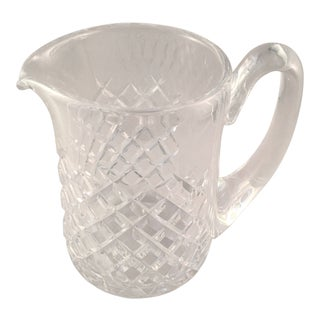 Vintage Cut Glass Waterford Crystal Pitcher in the Alana Pattern For Sale