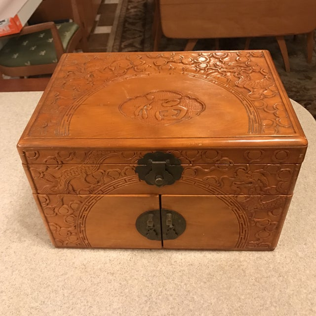 Vintage Asian Chinoiserie Jewelry Box - Image 11 of 11