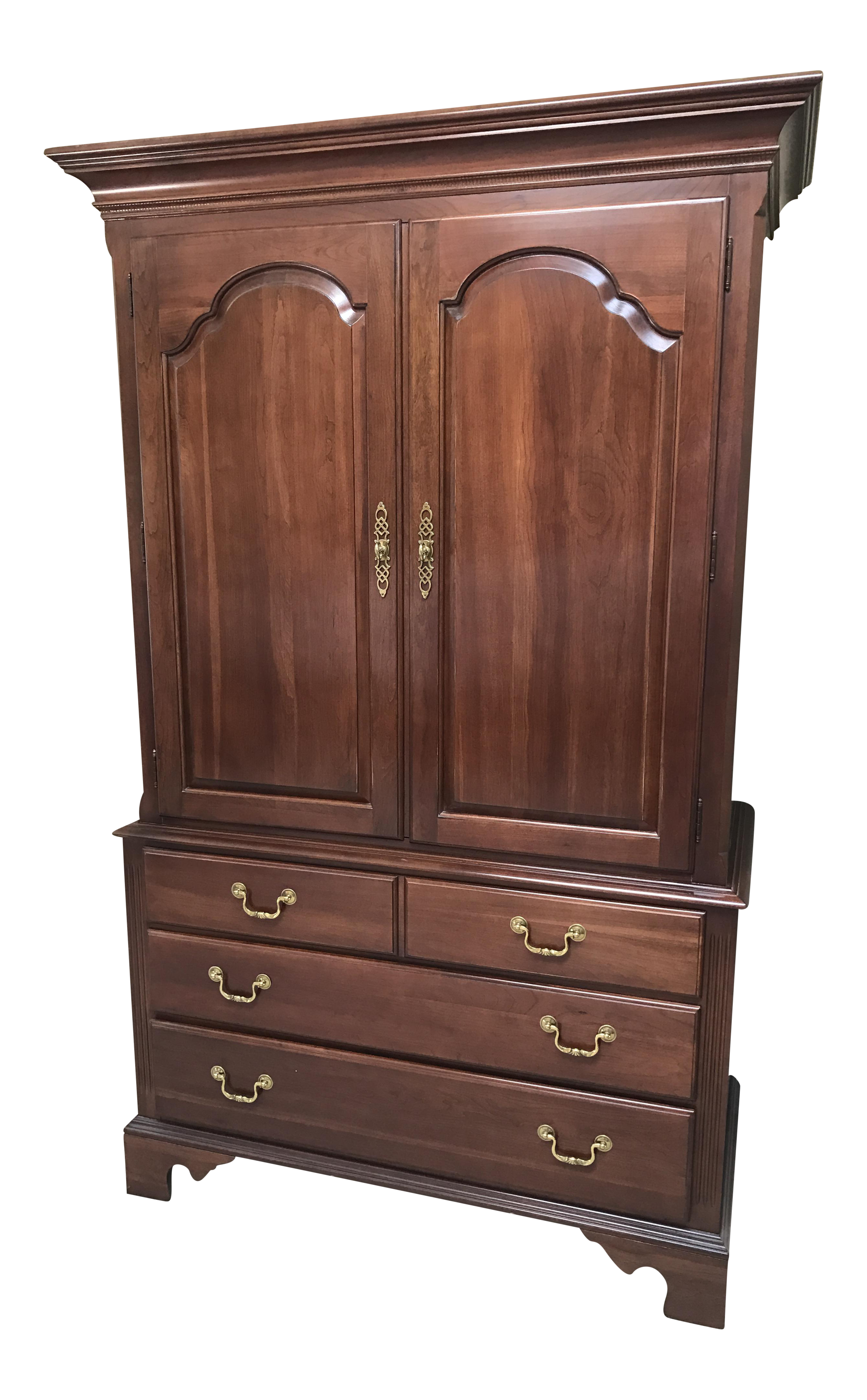 Charmant Ethan Allen Georgian Court Queen Anne Armoire