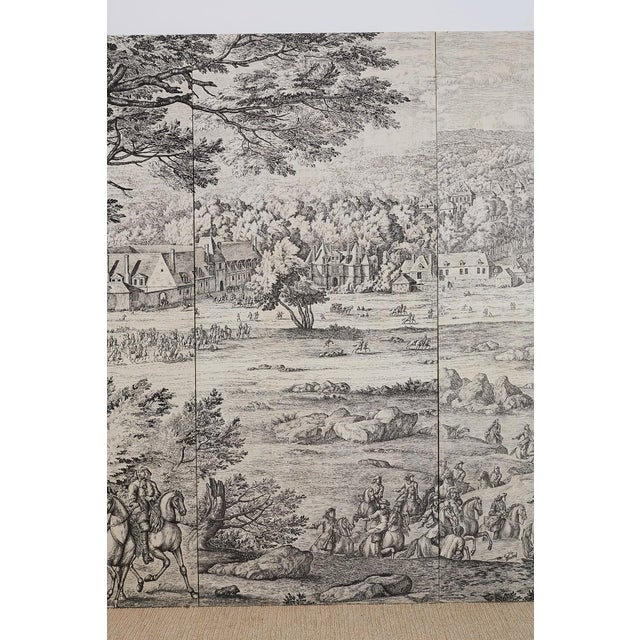 Early 20th Century French Provincial Toile De Jouy Textile Panels For Sale - Image 5 of 13