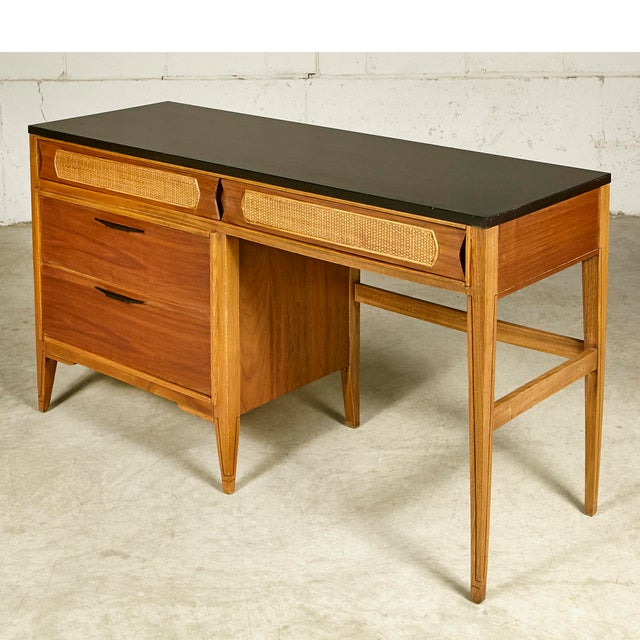 1960s Kent Coffey Walnut Tempo Desk For Sale - Image 9 of 9
