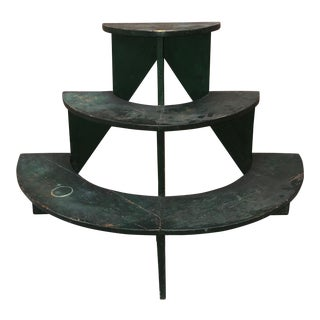 Primitive Country Store Three Tier Display Bucket Bench Table For Sale