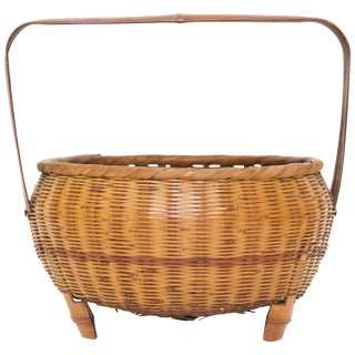 Japanese Woven Basket For Sale