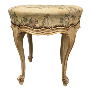 Italian Antique Parcel Gilt Foot Stool - 19th C For Sale