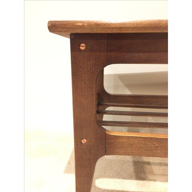 Walnut & Brass Mid-Century Bar Cart - Image 8 of 8