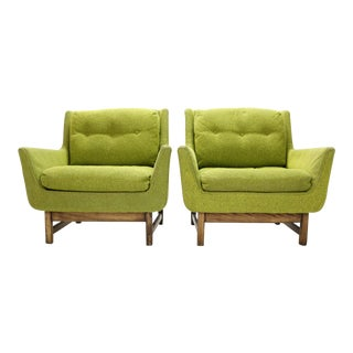 1960s Vintage Danish Selig Vista Lounge Chairs- a Pair For Sale