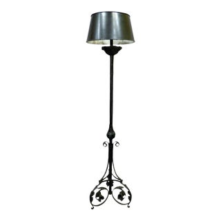 Spanish Torchere Iron Floor Lamp For Sale
