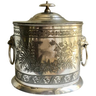 Walker and Hall Sheffield Silver Tea Caddy For Sale
